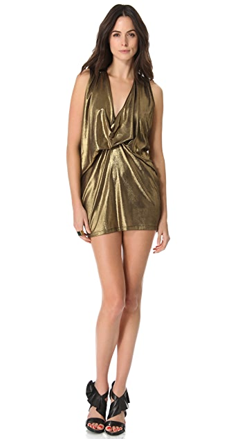 Riller & Fount Pinched Front Mini Dress