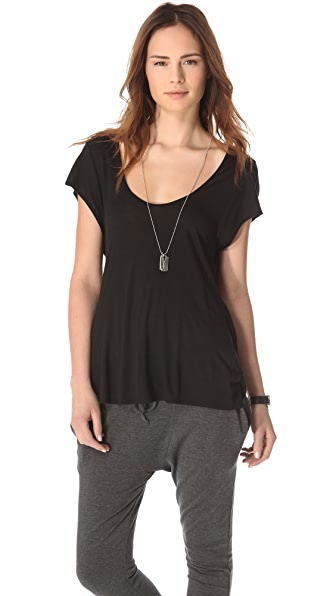 Riller & Fount Draped Open Back Tee
