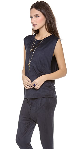 Riller & Fount Mason Muscle Tee Jumnpsuit with Drawstring
