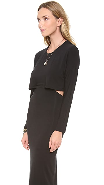Riller & Fount Kurt Long Sleeve Cutout Maxi Dress