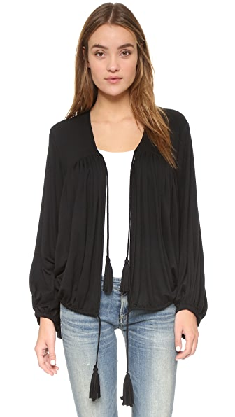 Riller & Fount Stevie Oversized Batwing Jacket - Obsidian