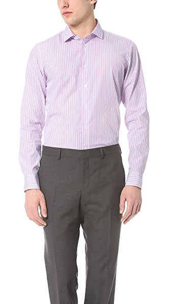 Richard James Double Stripe Dress Shirt