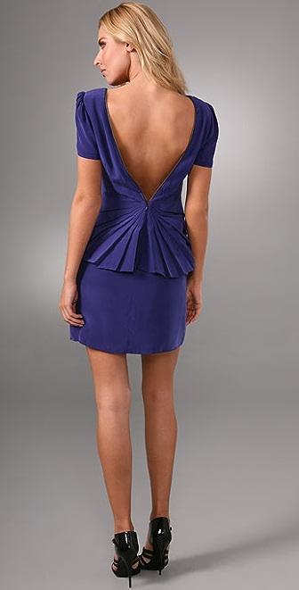 Rebecca Minkoff Scoop Neck Pleated Dress