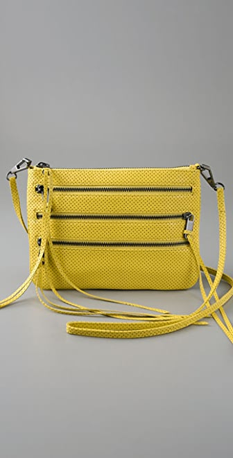 Rebecca Minkoff Perforated 3 Zip Rocker Bag