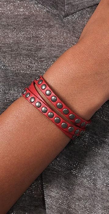Rebecca Minkoff Triple Wrap Tiny Stud Bracelet