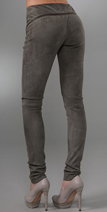Rebecca Minkoff Serge Suede Zipper Pants