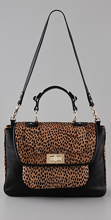 Rebecca Minkoff Cheetah Haircalf Covet Bag