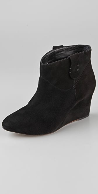 Rebecca Minkoff Doll Suede Wedge Booties