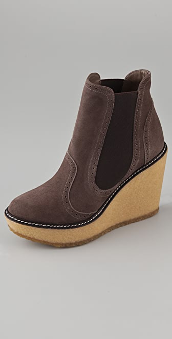 Rebecca Minkoff Dime Suede Wedge Booties