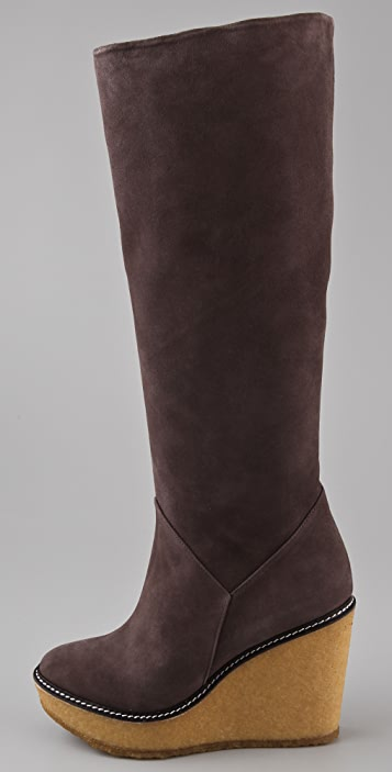 Rebecca Minkoff Dime Suede Wedge Boots