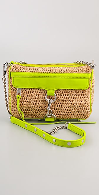 Rebecca Minkoff Straw with Neon Mini MAC Bag