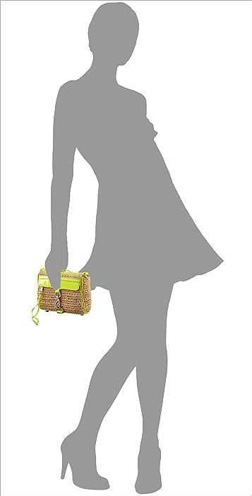 Rebecca Minkoff Straw with Neon Mini MAC Bag