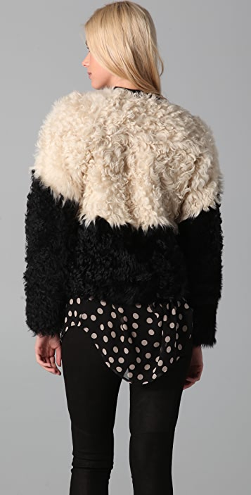 Rebecca Minkoff Anja Two Tone Fur Jacket