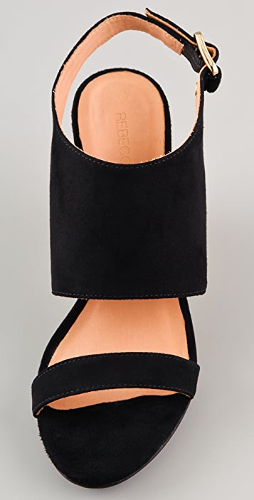 Rebecca Minkoff Suri Suede Wedge Sandals
