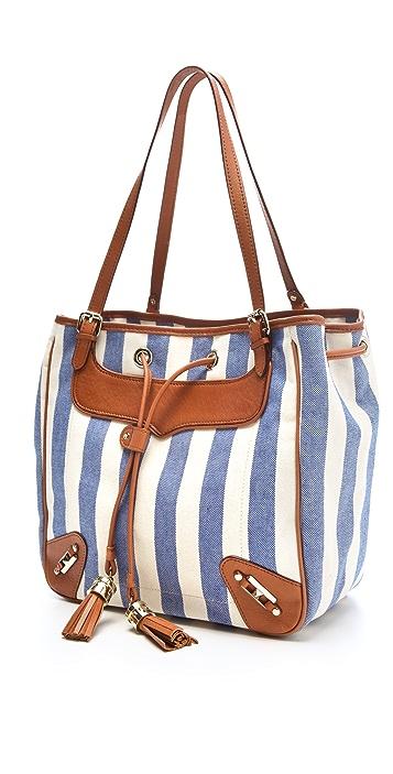 Rebecca Minkoff Canvas Stripe Bucket Bag