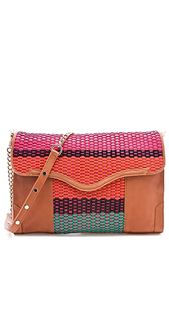 Rebecca Minkoff Colorful Weave Beau Clutch