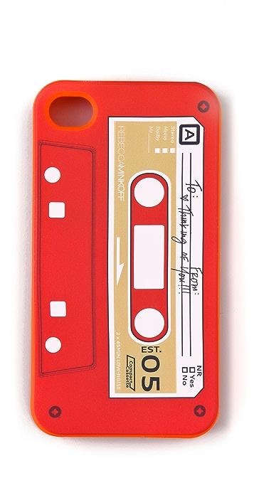 Rebecca Minkoff Cassette Tape iPhone Case