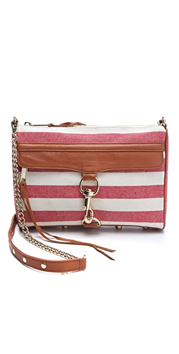 Rebecca Minkoff Canvas Stripe MAC Bag