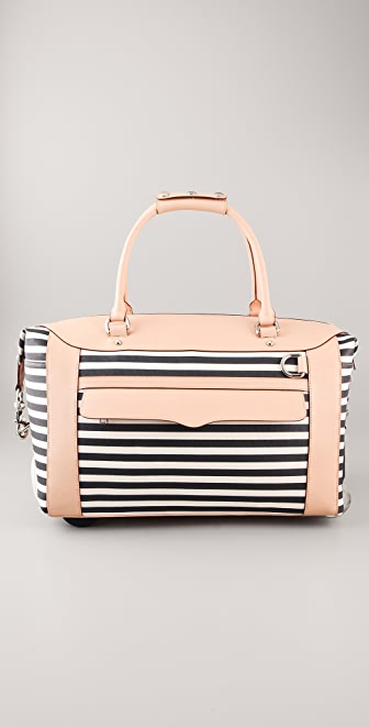 Rebecca Minkoff Striped Wheelie Bag