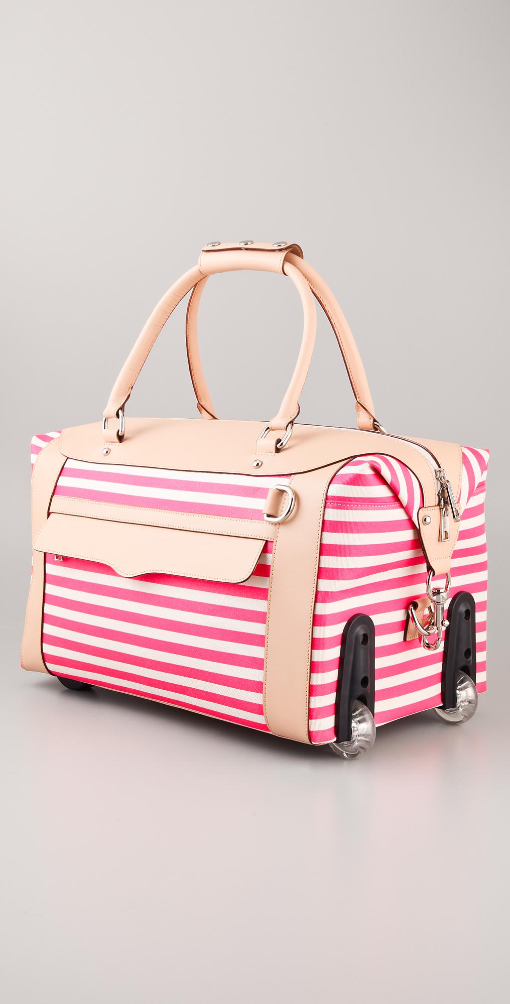 Rebecca Minkoff Striped Wheelie Bag   SHOPBOP