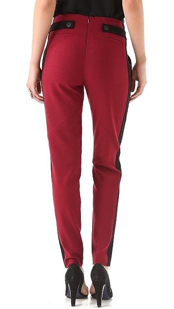 Rebecca Minkoff Gavin Pleated Wool Pants