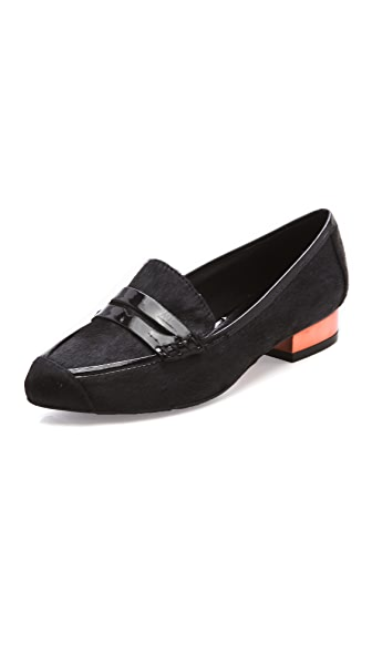 Rebecca Minkoff Harlis Black Haircalf Flats