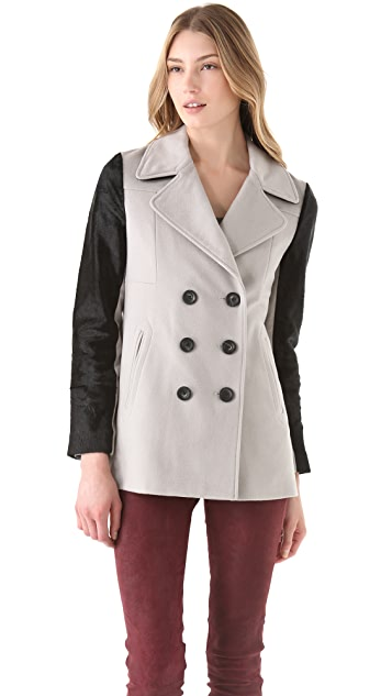 Rebecca Minkoff Jamison Coat with Fur