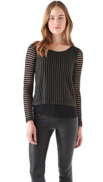 Rebecca Minkoff Eve Metallic Top