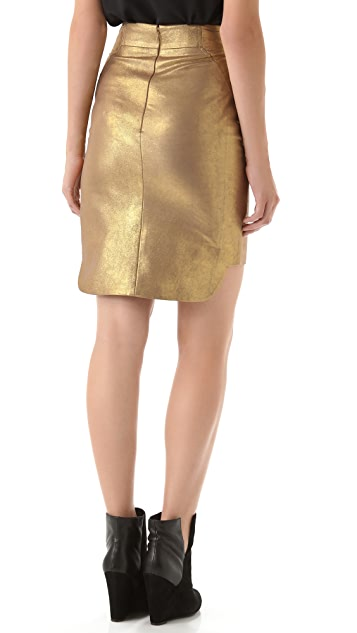 Rebecca Minkoff Luciana Leather Skirt