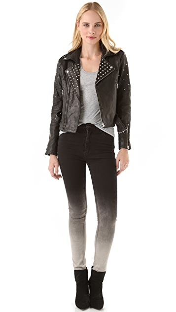 Rebecca Minkoff Theo Studded Leather Jacket