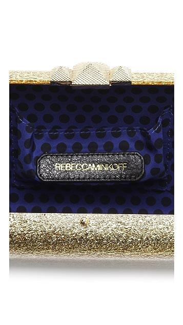 Rebecca Minkoff Gold Lucite Minaudiere