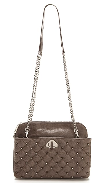 Rebecca Minkoff Diamond Quilt and Stud Mikey Bag