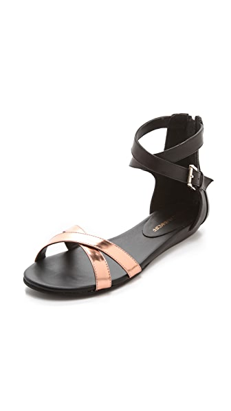 Rebecca Minkoff Bettina Metallic Flat Sandals