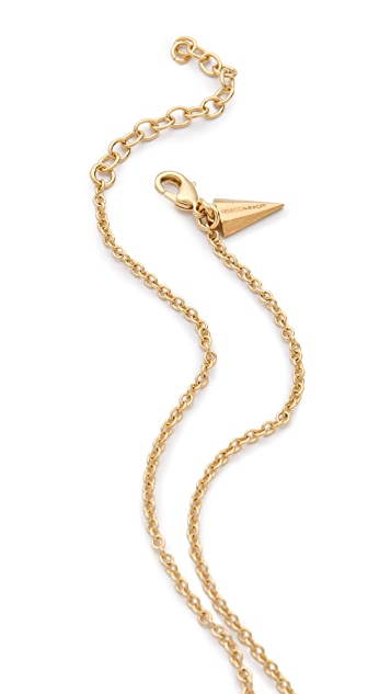 Rebecca Minkoff Pave Horn Pendant Necklace