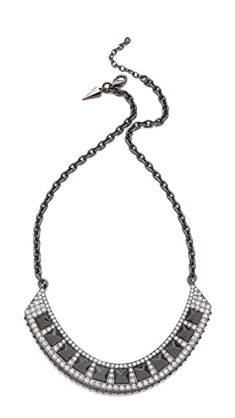 Rebecca Minkoff Flipped Crystal Bib Necklace