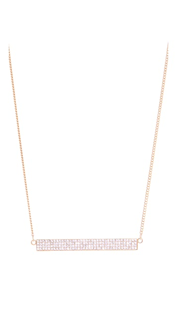 Rebecca Minkoff Pave ID Plate Necklace