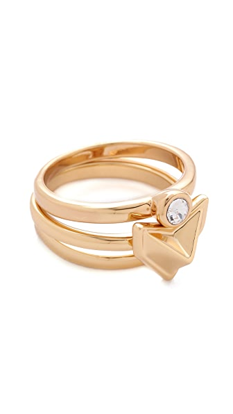 Rebecca Minkoff Stackable Heart Ring Set