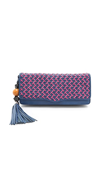 Rebecca Minkoff Bright Crisscross Honey Clutch