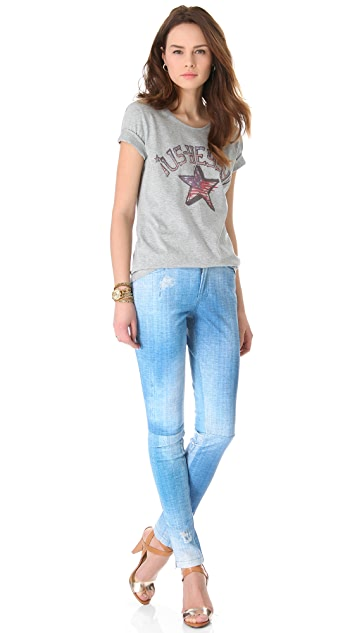 Rebecca Minkoff Printed Leather Collette Pants