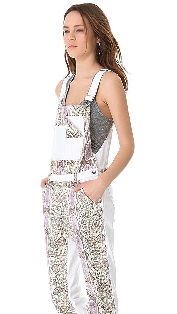 Rebecca Minkoff Landon Python Leather Overalls
