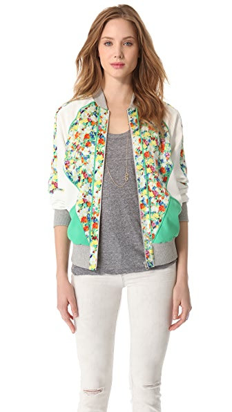 Rebecca Minkoff Acid Bloom Nolan Jacket