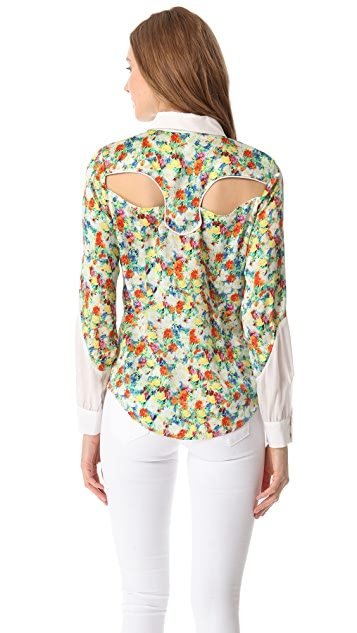 Rebecca Minkoff Acid Bloom Cowboy Shirt