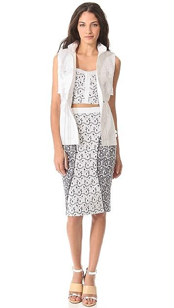Rebecca Minkoff Della Eyelet Skirt