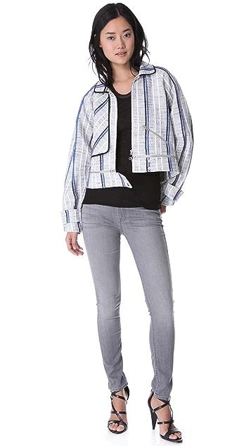 Rebecca Minkoff Sanderson Tweed Bomber Jacket