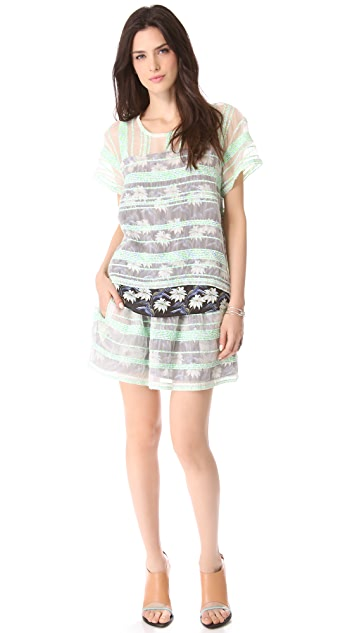 Rebecca Minkoff Sheer Tweed Dean Tee