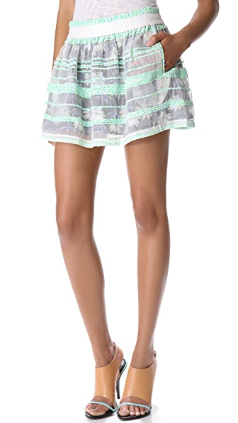 Rebecca Minkoff Sheer Tweed Dane Skirt