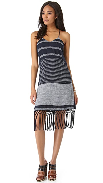 Rebecca Minkoff Aubrey Striped Linen Dress