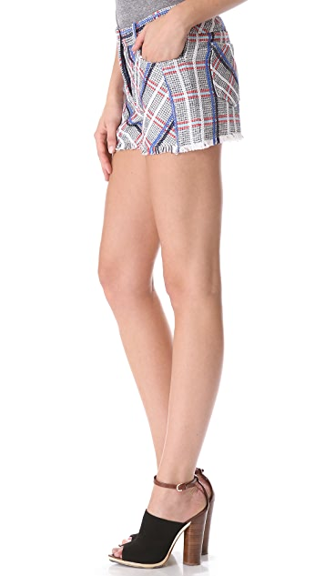 Rebecca Minkoff Saratoga Acid Tweed Shorts