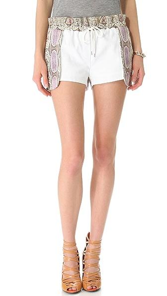 Rebecca Minkoff Python Leather Printed Mika Shorts