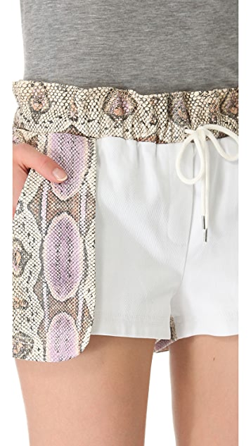 Rebecca Minkoff Python Leather Printed Mika Shorts